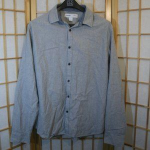 Old Navy Button Down Shirt, Large, Blue